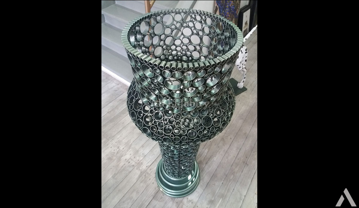 Traditional artistic vase in the form of a Moroccan tea glass